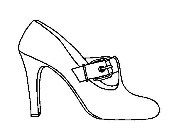 Dibujo de Zapatos elegantes para Colorear