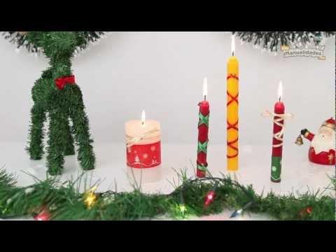 V deo de decoramos velas navide as for Velas navidenas