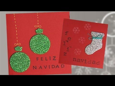 Video De Ideas Para Hacer Postales De Navidad - Manualidades-de-tarjetas-de-navidad