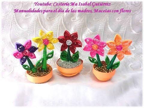 Video De Manualidad De Una Maceta De Flores Para El Dia De La Madre