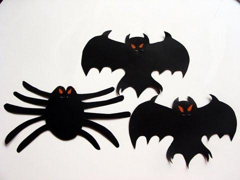 Video De Murcielagos Y Aranas Colgando Para Halloween - Dibujos-araas-halloween